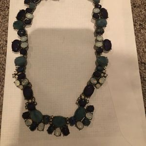 Loft blue and pearlescent necklace